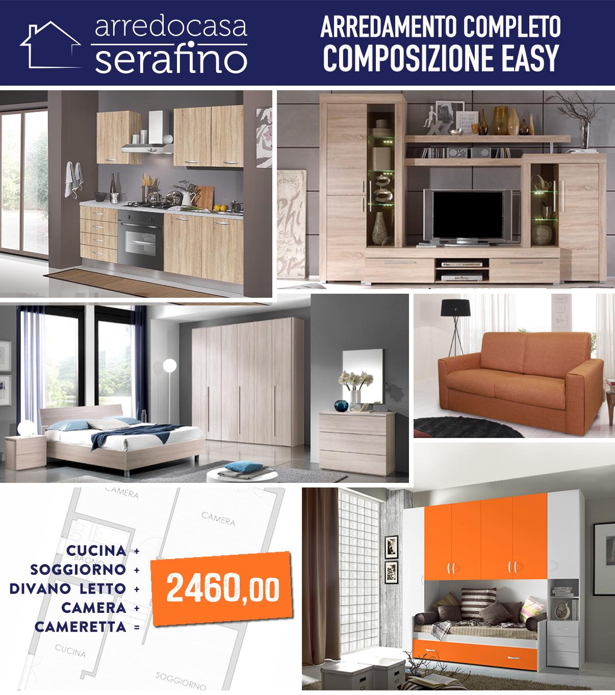 Arredamento completo easy arredocasa serafino for Arredamento completo moderno